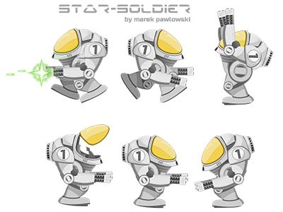 Star-Soldier, game sprites