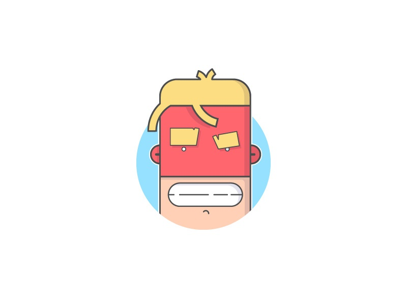 G-Force Hero mask character comic illustration icons icon graphic design flat outline drawing illustrator
