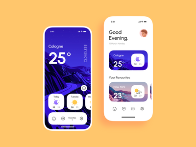 Weather App UI Design week warm up adobe xd icons mobile apps mobileappdesign mobile ui interface clean minimal typography weather character illustration ui design ux design app mobile ux ui