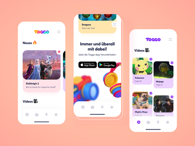 Toggo Redesign Mobile. 2.0 / Kids Platform simple responsive redesign navigation modern kids platform web design website web ux ui typography adobe xd mobile minimal 3d 2021 design design clean app