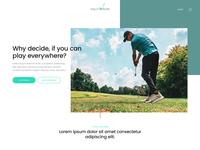 Landingpage Golf