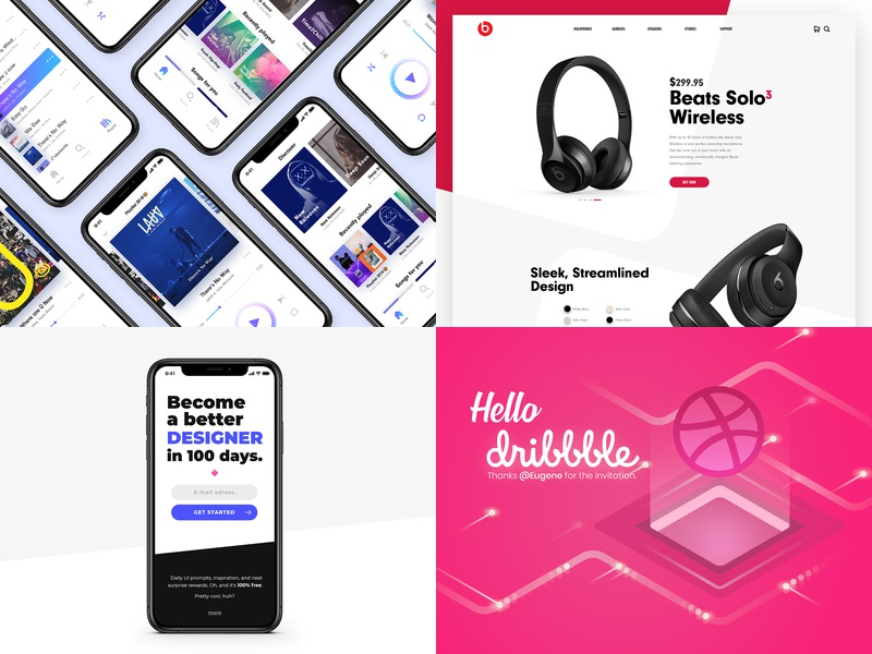 2018 001 redesign music app music landingpage first excited dribbble clean beats by dre beats app web webdesign ui ux illustration daily ui daily 100 challenge design