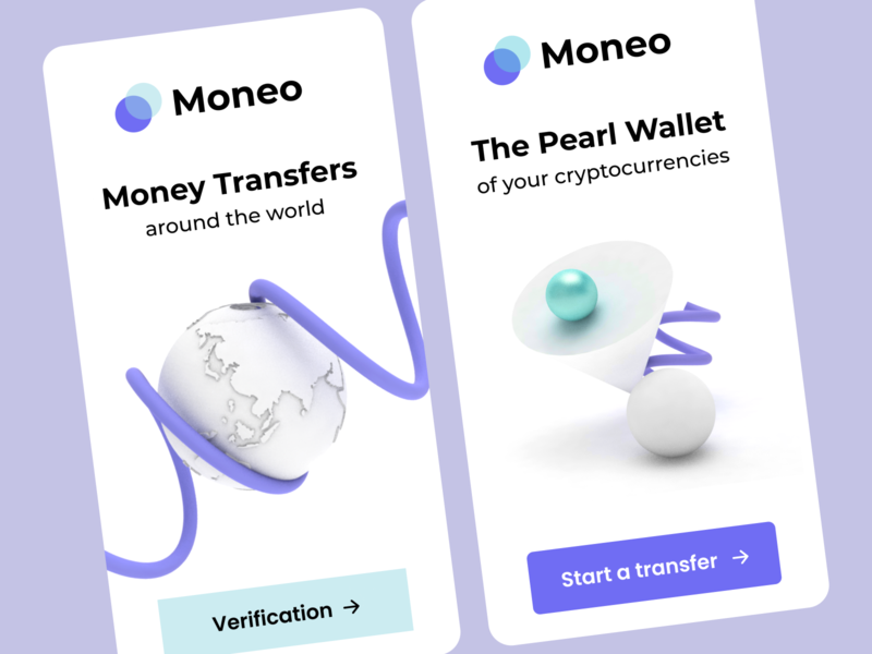 The Pearl Wallet illustration design payment ui onboarding start login registration earth geometric c4d application app trade money pearl wallet