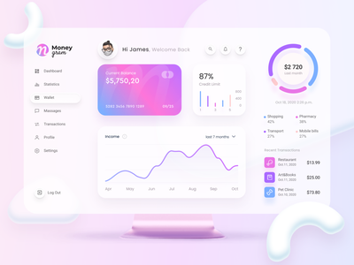 MoneyGram – Online Banking mockup trade design payment light ux template white app blur clean fintech finance exchange currency crypto wallet ui money dashboard