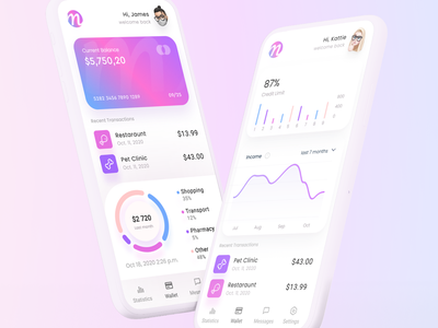 MoneyGram – Mobile Finance Manager profile mockup trading trade template application app ui shadow white clean logo transaction chart gradient card wallet fintech finance mobile
