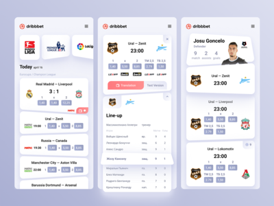 Dribbet — Betting application concept