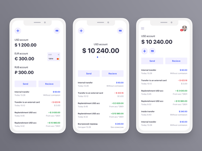 Wallet App x payment prototype wireframe ui minimalistic minimal light white clean app design trade trading forex euro usd fintech finance app
