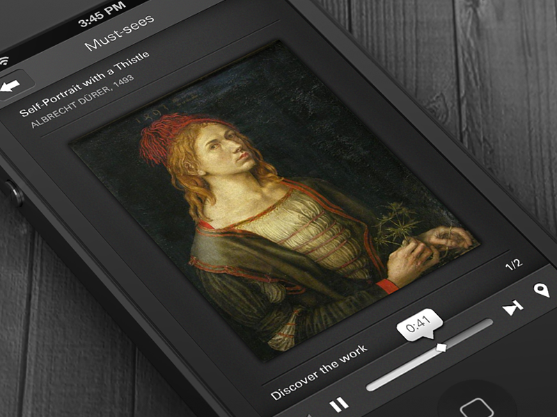 Louvre Audioguide ios iphone mobile ui louvre