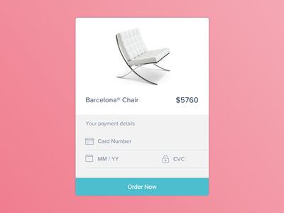 Daily UI challenge #002 — Credit Card Checkout ecommerce payment order checkout credit card blue pink daily ui challenge app screen app
