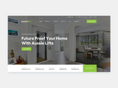Aussie Lifts – Australian Owned, Made and Designed layout minimal products services web design interface ux ui