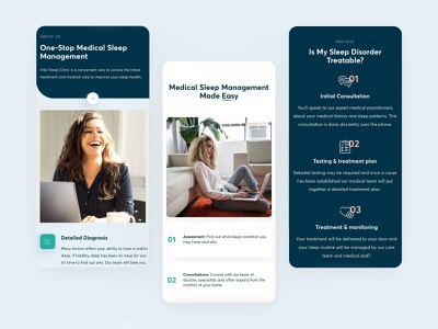🧑⚕️ Vityl Sleep Clinic in Australia steps healthcare health doctors medical clinic mobile design mobile features services layout minimal clean design web design interface ux ui