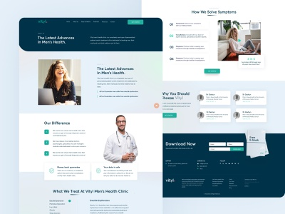 🧑⚕️ Vityl Sleep Clinic in Australia features steps treatment doctor healthcare health medical clinic services layout minimal clean design web design interface ux ui