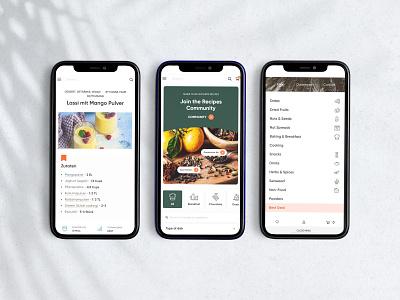 Fine food store - Website for Dattelmann - Mobile view menu shop food store healthy mobile design web design ux interface ui