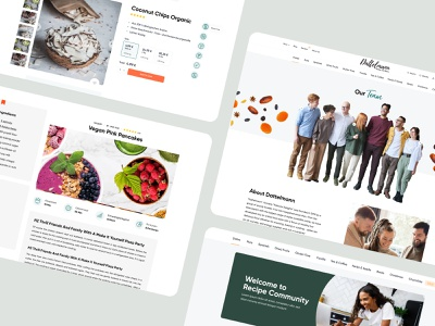 Fine food store - Website for Dattelmann product page product healthy shop store food recipe about us team design web design ux interface ui
