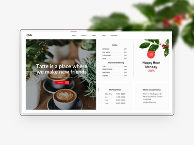 Intro section Fika - Cafe & Coffeehouse HTML Template
