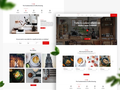 Home page Fika - Cafe & Coffeehouse HTML Template ux interface ui restaurant modern menu fresh food drinks coffeehouse coffee house coffee clean cafeteria cafe bootstrap barista bakery