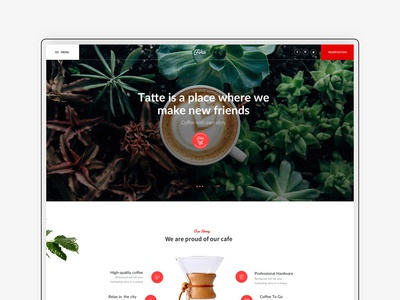 Home page Fika - Cafe & Coffeehouse HTML Template