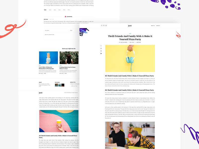 Article - Blog Jord minimal article page sidebar blog posts blog post blogging blog layout article clean design web design ux interface ui
