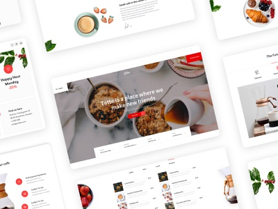Home page Fika - Cafe & Coffeehouse HTML Template food features tabs menu restaurant cafeteria coffee cafe clean minimal design web design ux interface ui