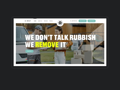 Away Today Australia's Greenest Rubbish Removal Website steps booking form bold services clean minimal design web design ux interface ui