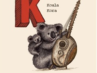 Koalas playing koras