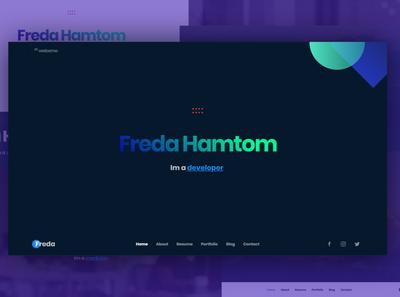 Freda Personal Resume / Portfolio / Blog / HTML Template