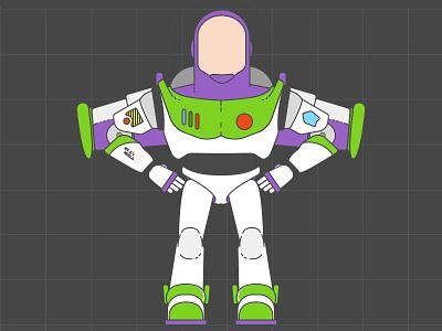 Buzz Lightyear san francisco digital print designer design lightyear buzz toy story pixar character wip animation