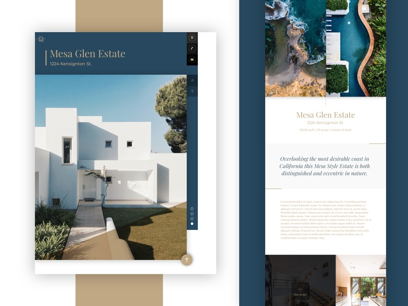 Real Estate Template ar vr designer icon agency design ux illustration interaction minimal ui famous