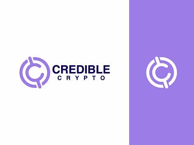 Credible Crypto logo purple c coin crypto