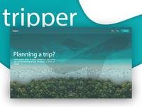 Trip planner website landing page