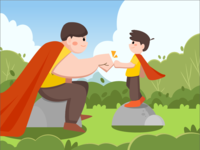 Illustration About Father's Day