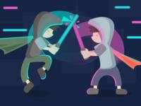 Fight! Lightsaber_Illustration