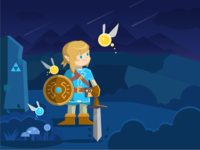 Illustration About Zelda#2-Night