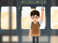 Illustration about Life#2-subway