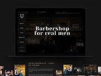 Barbershop one-page design