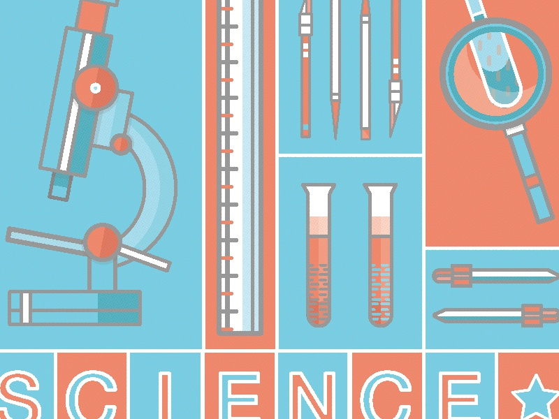 Science! - Poster poster son illustration art
