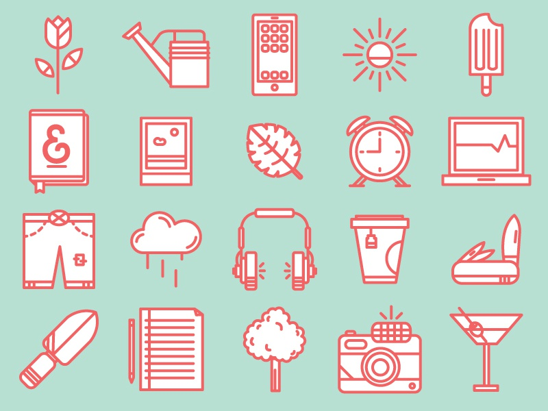 Spring Time Icon Pack icon summer spring illustration download free camera headphones