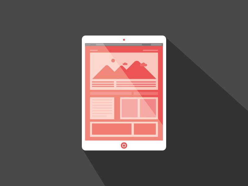 Ipad Mini ipad flat ui ux web wire simple illustration