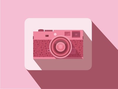 Flat Rangefinder Camera Icon flat shadow rangefinder camera icon illustration