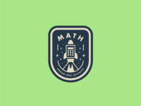 Rocket Math Badge
