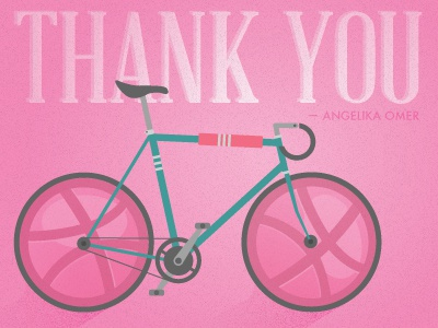 Thanks!  pink bike vintage texture thank you fast