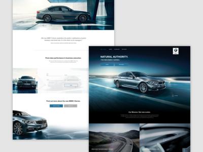 BMW 5 Series Microsite – Screens
