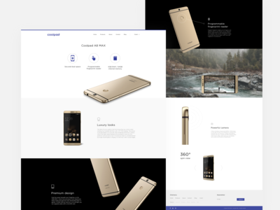 Coolpad Website – Product Detail