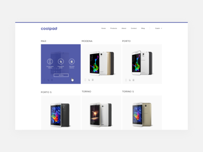 Coolpad Website – Products