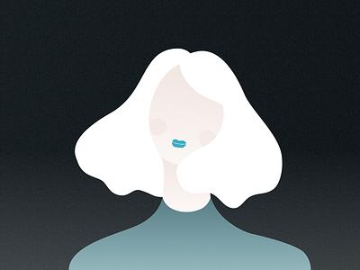 A girl sketch app vector graphic design personal portrait digital paint design character art fashion girl illustration