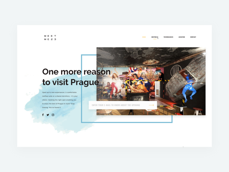 MeetMe23 Landing Page – Preview hotel booking teaser ui design product lifestyle service product website prague webdesign website