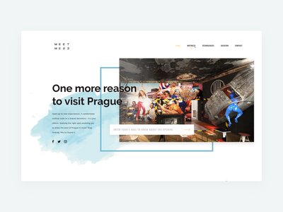 MeetMe23 Landing Page — Preview hotel booking teaser ui design product lifestyle service product website prague webdesign website