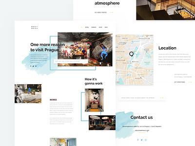 MeetMe23 Landing Page hotel booking website webdesign prague product website service lifestyle product design ui teaser