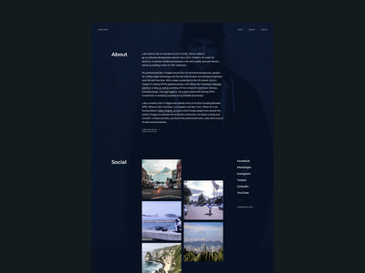 Lubo Smid Website social about webdesign website personal parallax effect parallax dark principle animation strv strvcom