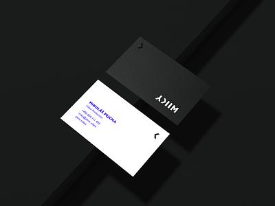 YKIM — Business Card logodesign logo production identity brand branding video minimal white black video production dark business card